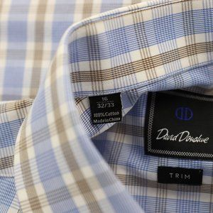 David Donahue Shirts - David Donahue Trim Fit Dress Shirt 16 X 32/33